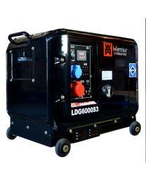 Stromerzeuger Warrior 6,8 kVA Silent Diesel Generator 3-phase